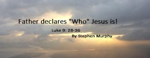 """Ministry 29th January – The Father declares """"Who"""" Jesus is!"""