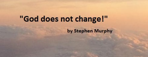 """New Year's Day Ministry – """"God does not change!"""""""