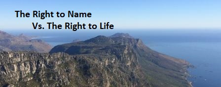 Sunday 12th of May Sermon: The Right to Name Vs  The Right to Life